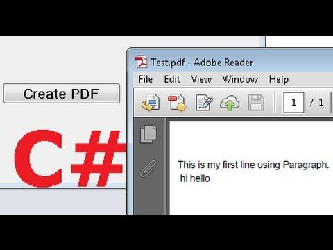 C# Tutorial 42: iTextSharp : How to create PDF file in C#