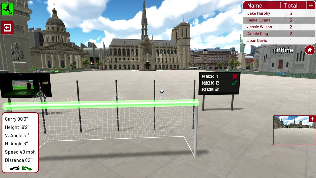 Football Environment   Paris   Crossbar Challenge
