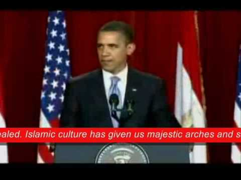 A part of Barack Obama's Speech in Cairo,...
