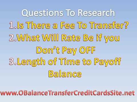0 APR Balance Transfer Credit Cards Is This A Good Choice F