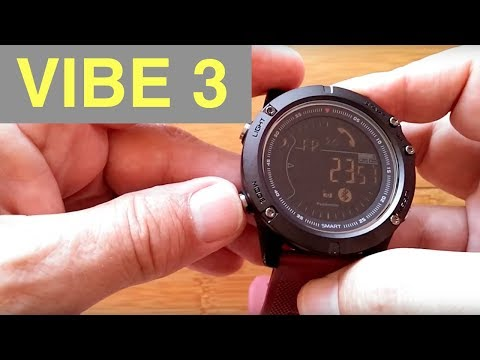 ZEBLAZE VIBE 3 DIGITAL IP67 Waterproof Smartwatch: Unboxing and 1st Look