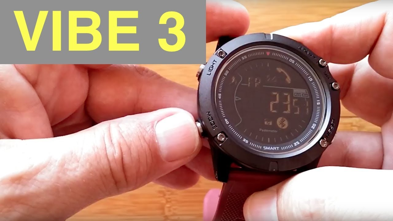 Zeblaze Vibe 3 Digital Ip67 Waterproof Smartwatch Unboxing And 1st