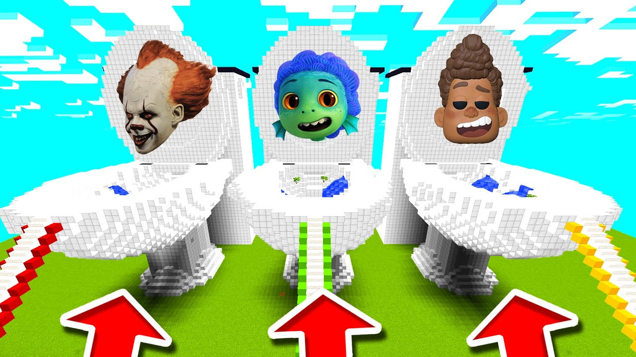 Minecraft PE : DO NOT CHOOSE THE WRONG TOILET! (Luca, Alberto & Pennywise)