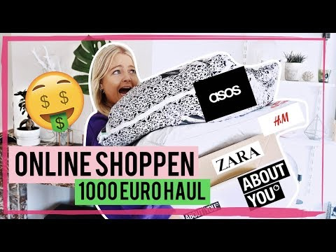 🤑€1.000 ONLINE SHOPPING HAUL + TRY ON 🤑(ASOS, H&M, ZARA, ABOUT YOU)