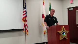 Sheriff's Press Conference- July 20, 2018- Shooting Investigation- Unincorporated Clearwater