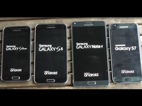 Samsung Galaxy S7 vs Note 4 vs S5 vs S5 mini benchmark test