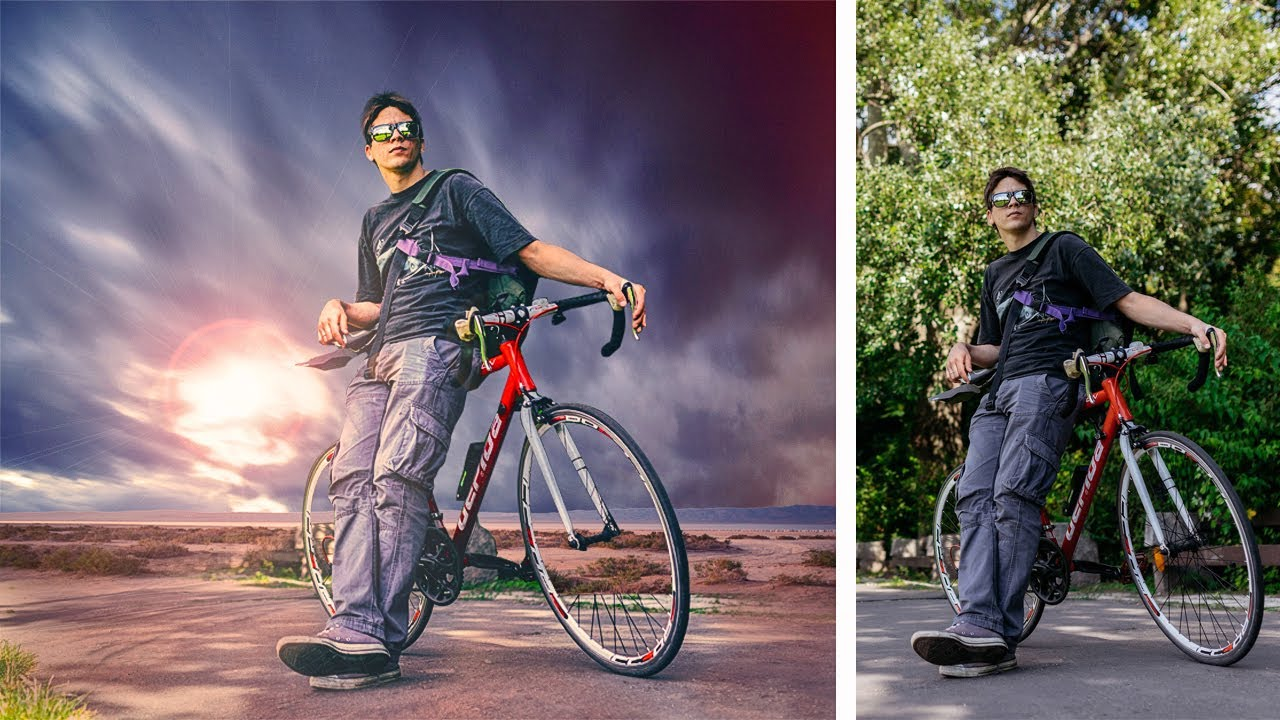 Boy Girl Wallpaper 2016 Bike Boy Adventure Photo Manipulation Photoshop Tutorial