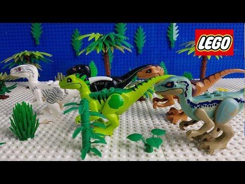 Lego Stop Motion Animation | Lego Jurassic World Lockwood Estate