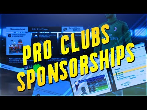 FIFA 18: Pro Clubs Sponsorship / EA Investment Concept!