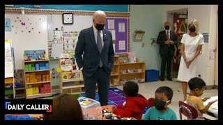 Biden Jokes To Students About Avoiding Reporters' Questions