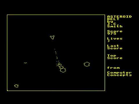Asteroid Belt for the BBC Micro
