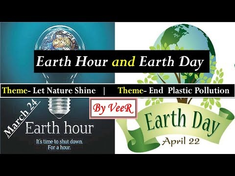 Earth Hour VS Earth Day | Themes | Environment | Current Affairs 2018 By VeeR