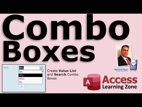 Microsoft Access Combo Boxes - FULL LESSON