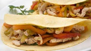 Receta de fajitas de pollo y verduras – Karlos Arguiñano