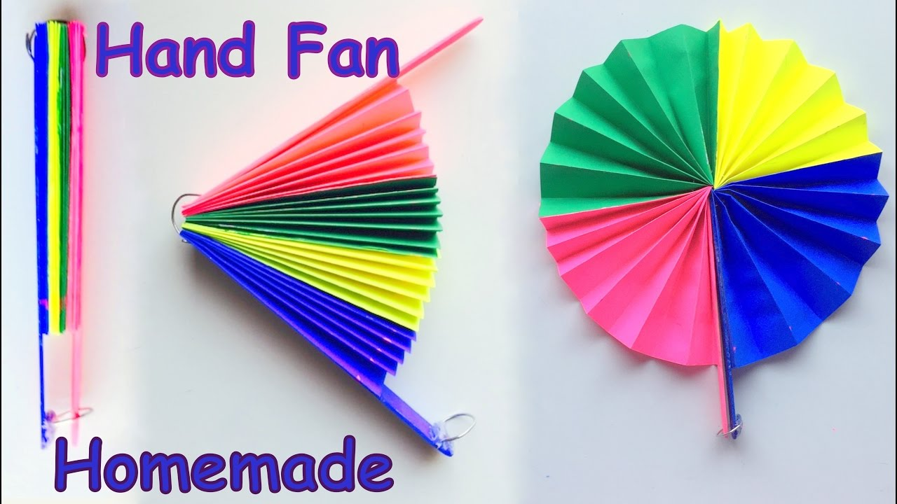 diy - homemade paper hand fan / best out of waste / kids craft idea