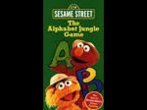 Opening And Closing To Sesame Street:The Alphabet Jungle Game 1998 VHS