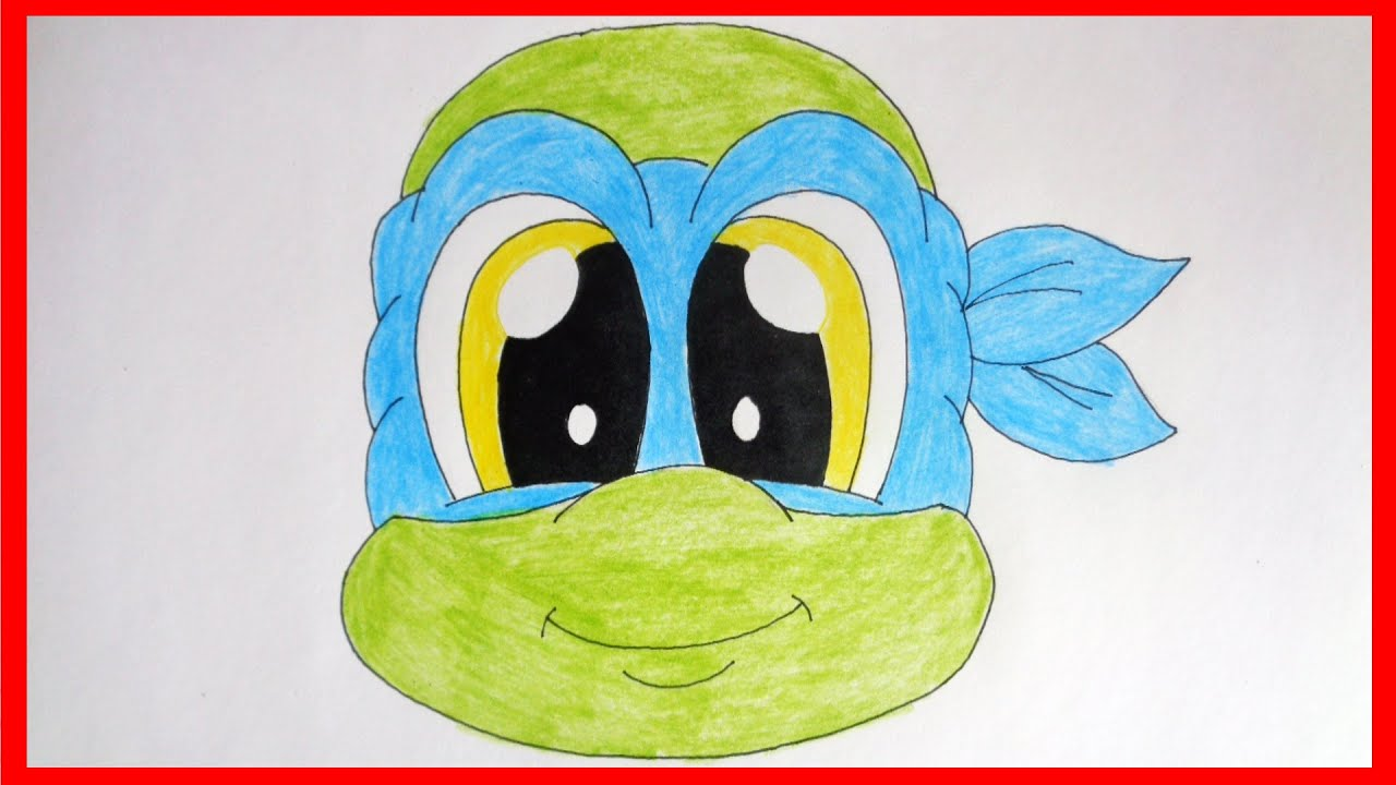 how to draw cute ninja turtles leonardo youtube