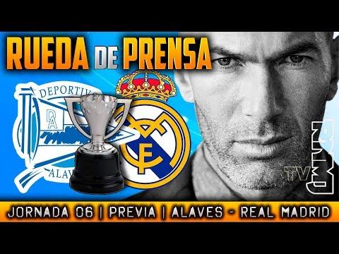 Alavés - Real Madrid Rueda de prensa de Zidane (22/09/17) | PREVIA LIGA JORNADA 06