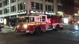FDNY LADDER 4, FDNY ENGINE 8 & FDNY RAC 1 TAKING UP FROM A 2 ALARM FIRE IN MIDTOWN, MANHATTAN, NYC.