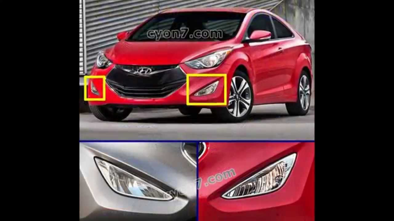 maxresdefault 2014~2015 hyundai elantra coupe fog light lamp complete kit,wiring Fog Light Wiring Diagram at bakdesigns.co