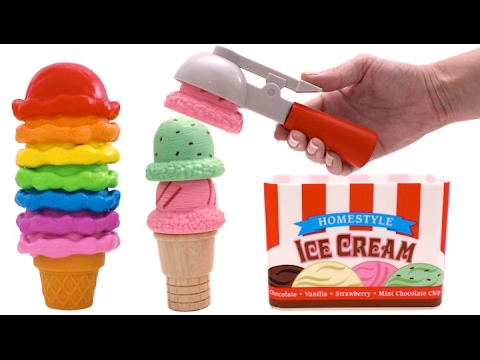 Thumbnail: Ice Cream Cones Playset - Learn Colors & Fruits for Kids with Pez Toys RL