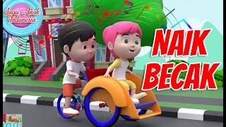 Naik Becak | 3D | Lagu Anak Indonesia