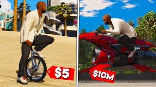 $5 vs $10.000.000 - BICICLETA VS MOTOCICLETA