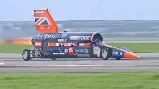 World's Fastest Car - 1,000mph Bloodhound SSC - First Public Runs