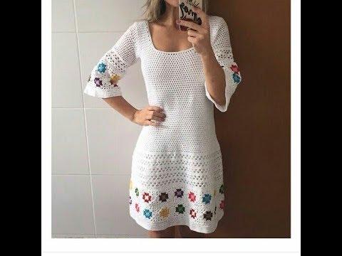5f3a019a59 Passo a Passo como fazer vestido em crochê - YouTube