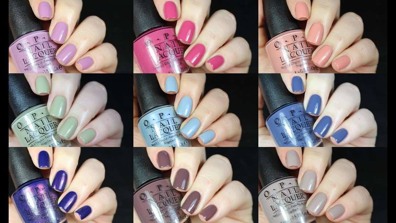 OPI Iceland Collection Live Swatch + Review!! - YouTube