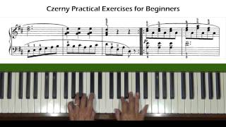 Czerny Practical Exercises for Beginners Op. 599, No. 50 Piano Tutorial