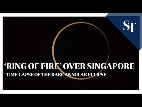 'Ring of fire' over Singapore: Time-lapse of rare annular eclipse | ST