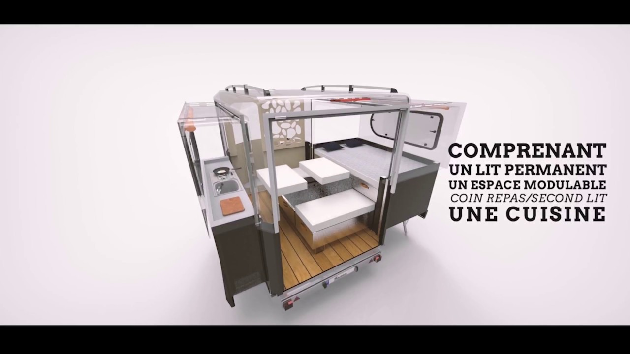 tipoon une nouvelle mini caravane youtube. Black Bedroom Furniture Sets. Home Design Ideas