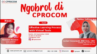 Effective Learning Process with Virtual Tools   Ngobrol di CPROCOM