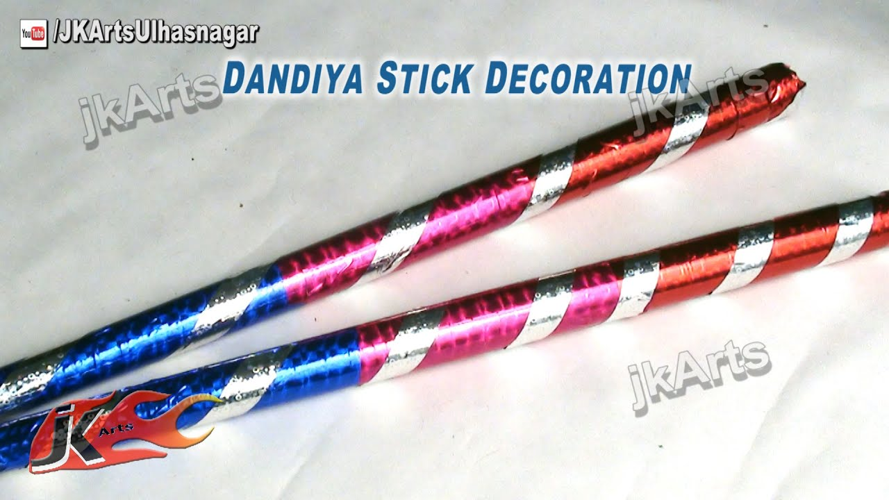 Diy quick disco dandiya sticks decoration for navratri for Decoration sticks