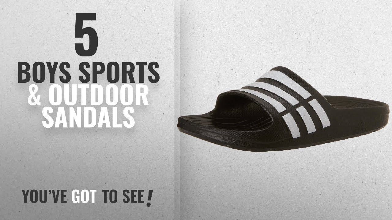 9c3105ad1 Top 10 Boys Sports   Outdoor Sandals  2018   adidas Children s Duramo Slide  Sandals