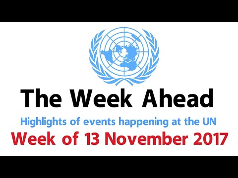 The Week Ahead - starting 13 November 2017