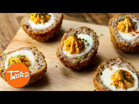How To Make Deviled Scotch Eggs | Deviled Egg Recipes | Party Appetizers | Twisted