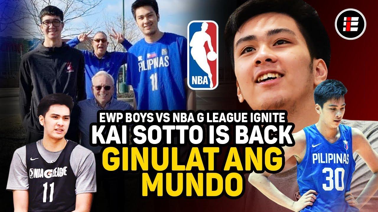 KAI SOTTO IS BACK! GINULAT ANG MUNDO, EWP BOYS VS NBA G LEAGUE TEAM IGNITE | GILAS DREAM TEAM