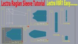 Lectra Modaris Beginner Tutorial   Raglan Dress Tutorial   Raglan Sleeve Pattern   Lectra  Software