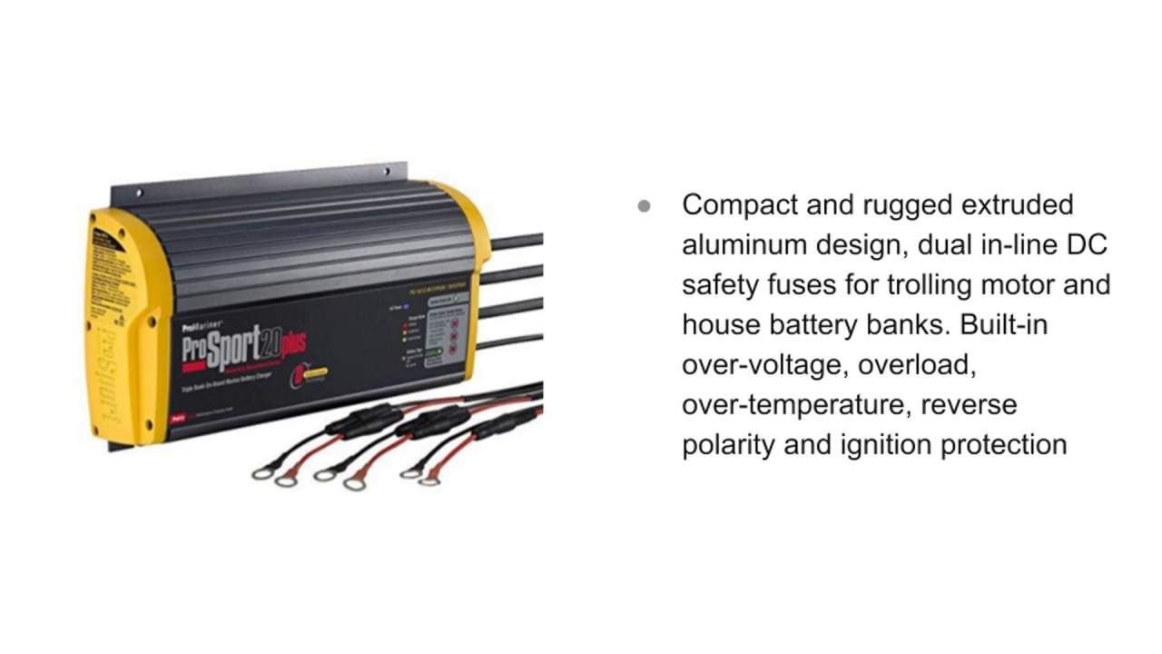 3 bank marine battery charger [ 1280 x 720 Pixel ]