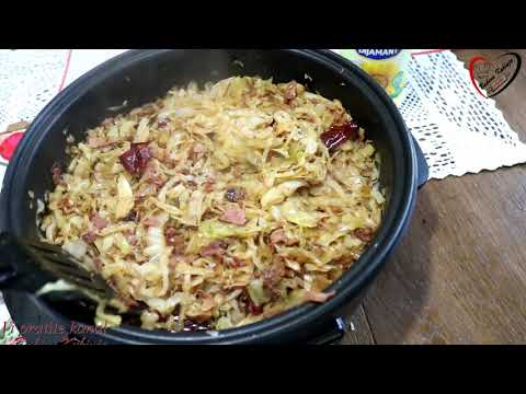 Bakina kuhinja - pržen kiseli kupus sa čvarcima (fried sour cabbage with cracklings)
