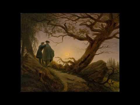 "Caspar David Friedrich (1774-1840) ~ ""Two men contemplating the Moon"" (version three, ca.1825-30)"