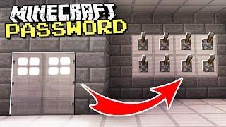 Easy & Secret DOOR With A PASSWORD in Minecraft!