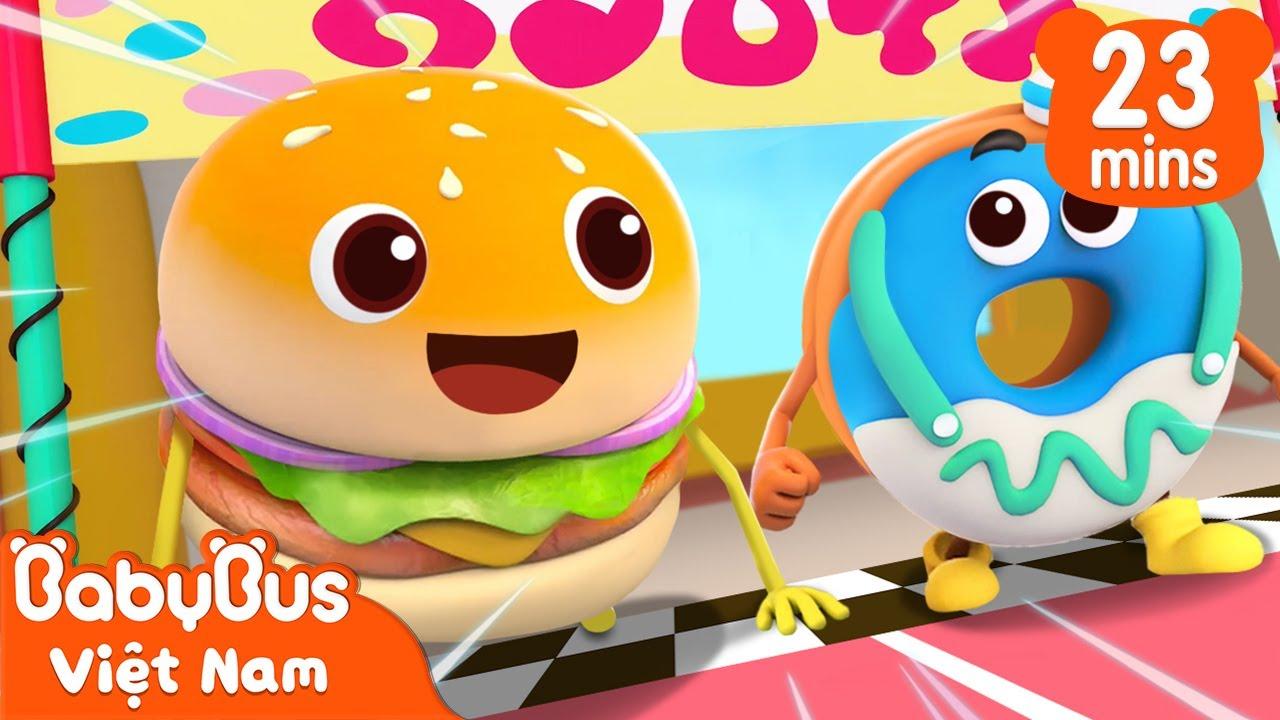 Ai mới là quán quân | Cuộc thi của Hamburger và Bánh Vòng | Hoạt hình thiếu nhi vui nhộn | BabyBus
