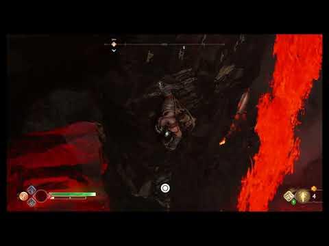 God of War - How To Get Muspelheim Red Item Chest Behind Lava Fall