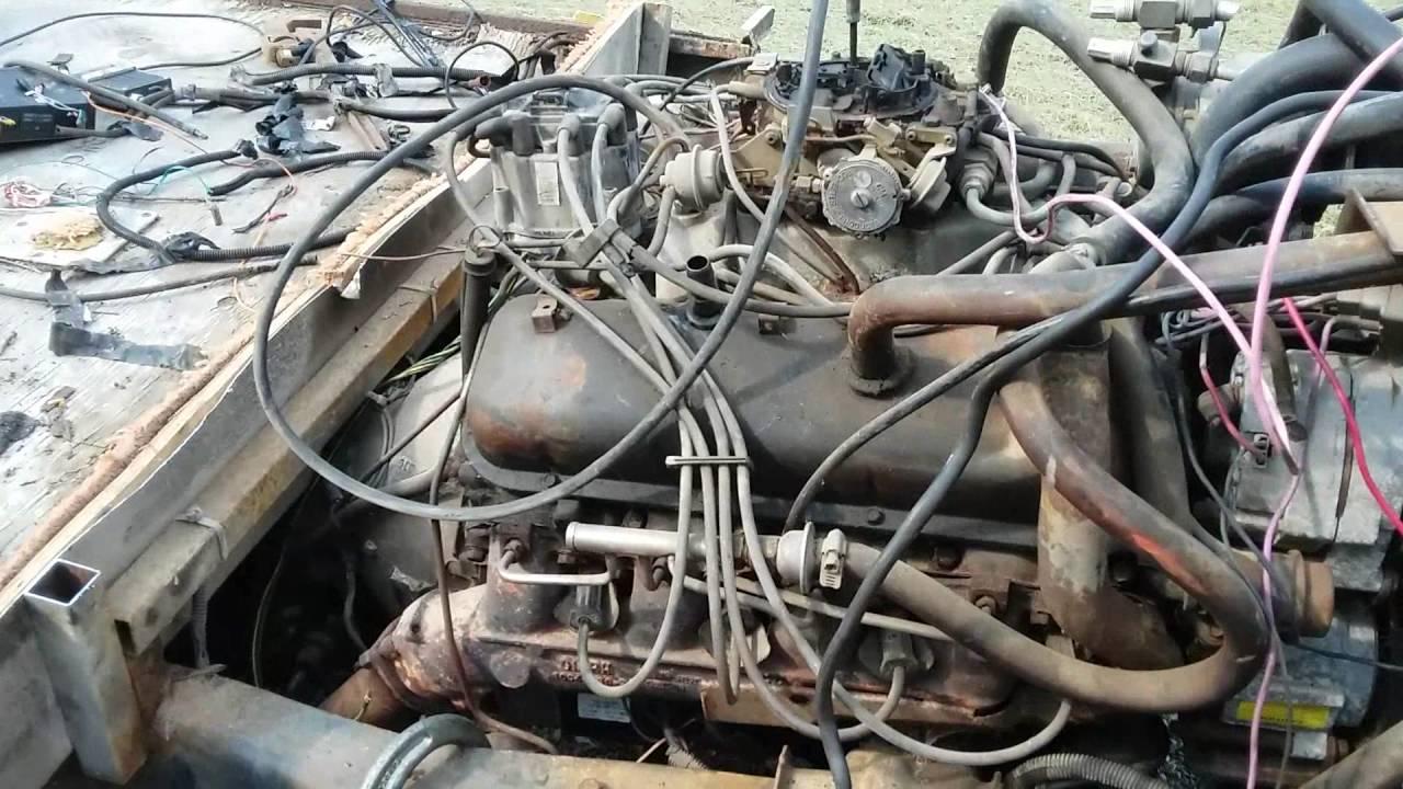 1983 Chevy 454 engine run - YouTube