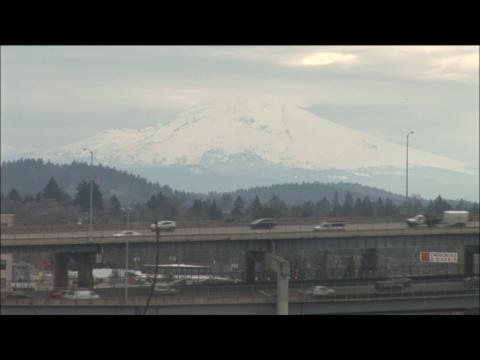 Portland traffic, weather, and Mt. Hood...