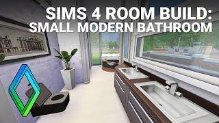 Sims 4 Small Modern Bathroom - Room Build