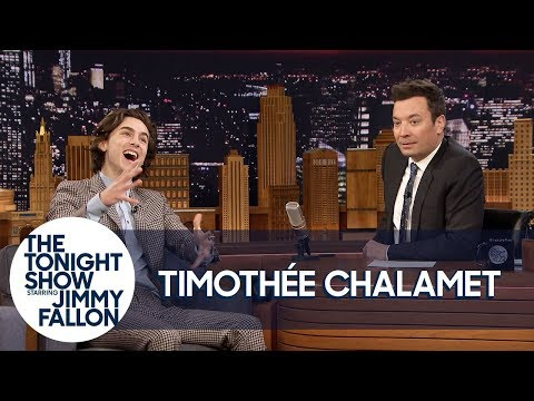 Timothée Chalamet Meeting Angelina Jolie & Jennifer Aniston Back to Back Blew His Mind